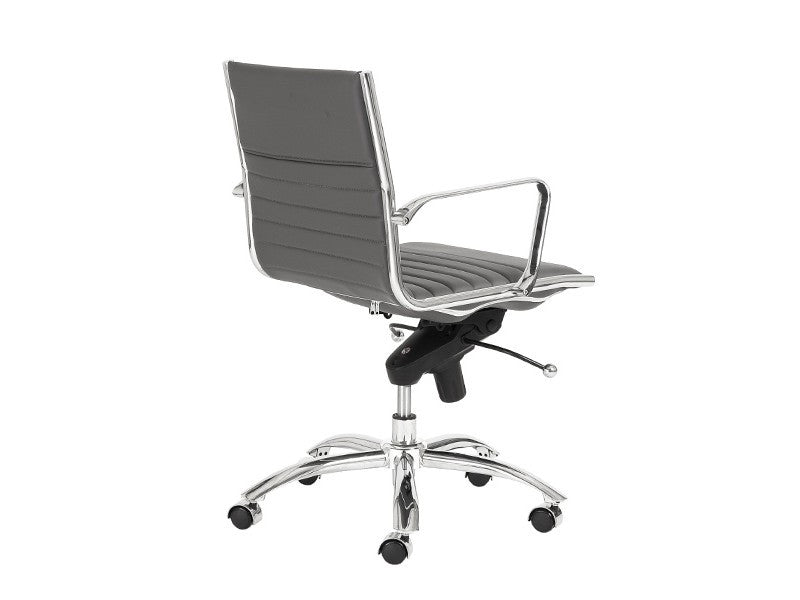 Dirk Low Back Office Chair in Grey design by Euro Style