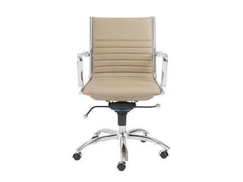Dirk Low Back Office Chair in Taupe design by Euro Style