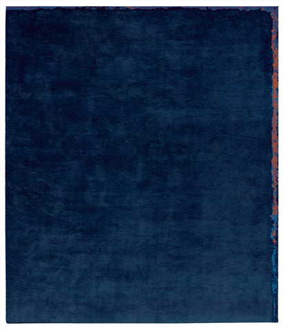 Dijon Nester Hand Knotted Rug in Dark Blue design by Second Studio