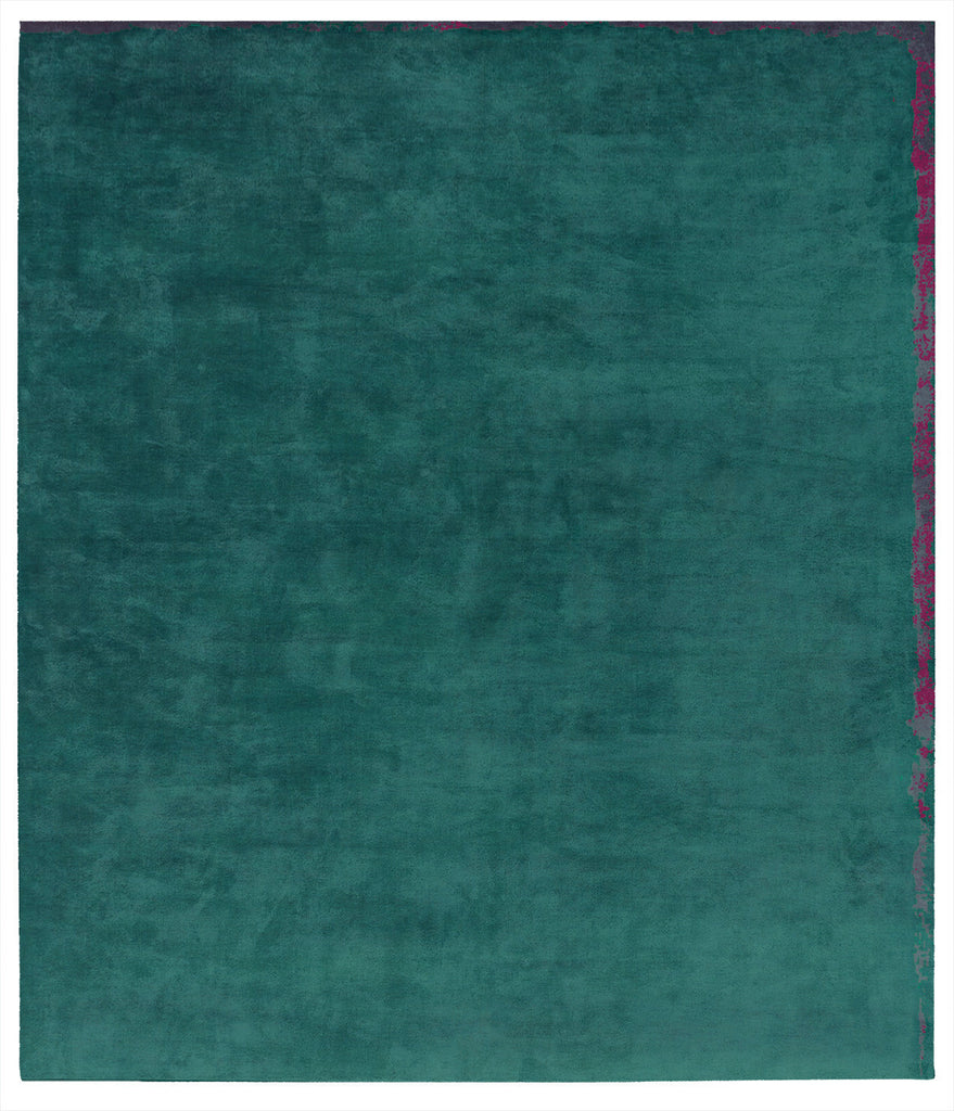 Dijon Nester Hand Knotted Rug in Turquoise design by Second Studio