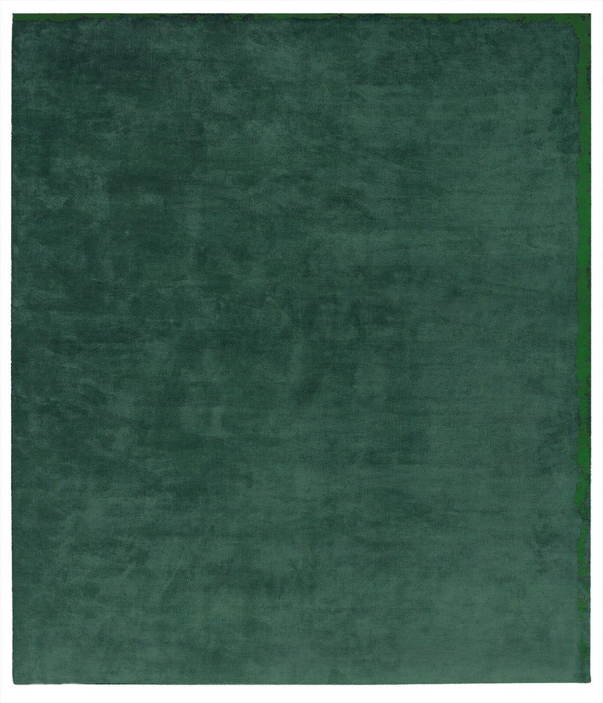 Dijon Nester Hand Knotted Rug in Green design by Second Studio