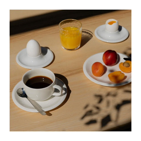 Raami Egg Cup in White design by Jasper Morrison for Iittala