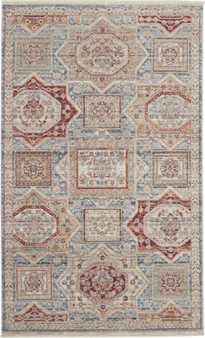Homestead Rug in Blue/Multicolor by Nourison