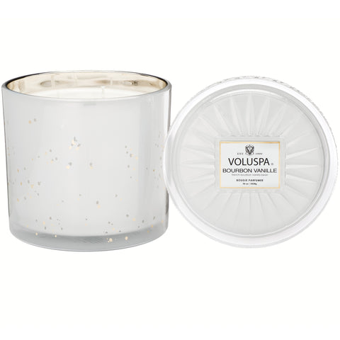 Grande Maison 3 Wick Glass Candle in Bourbon Vanille design by Voluspa