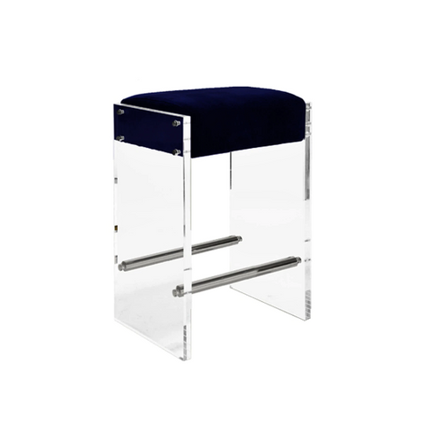 Acrylic Panel Counter Stool in Various Colors