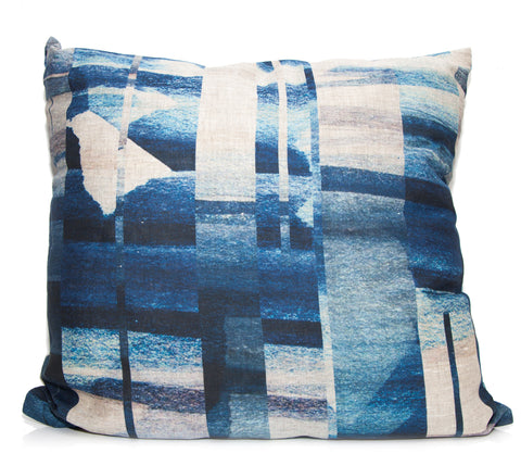 Indigo Offset Throw Pillow