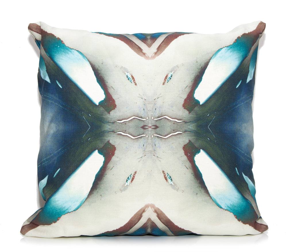Blue Berry Outdoor Throw Pillow By Elise Flashman Burke