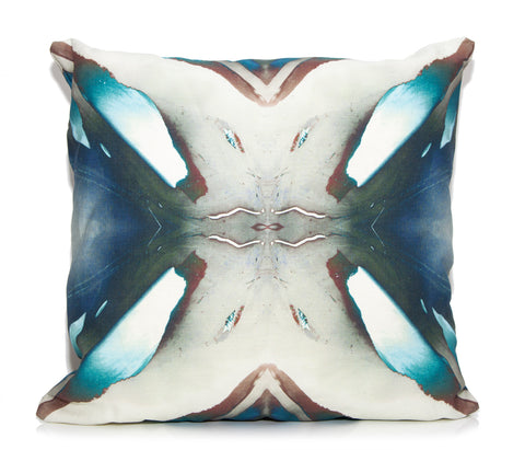Blue Berry Outdoor Throw Pillow by elise flashman