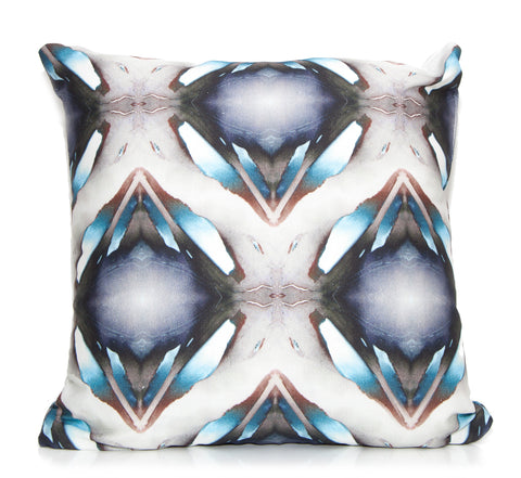Blueberries Outdoor Throw Pillow by elise flashman