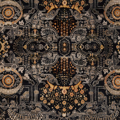 Empress Rug in Black & Gold