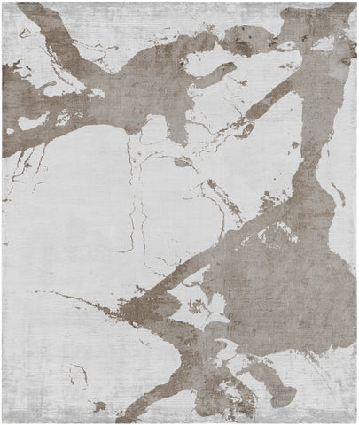 Eastern Side of Nanjing Hand Knotted Rug in Grey design by Second Studio
