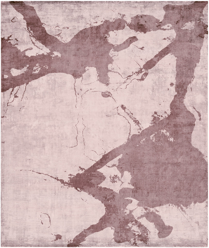 Eastern Side of Nanjing Hand Knotted Rug in Purple design by Second Studio