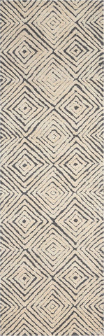 Deco Mod Rug in Grey/Ivory by Nourison