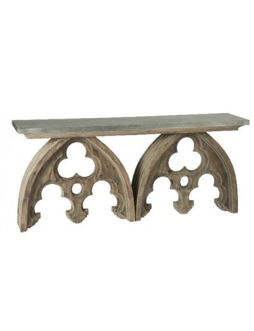 Arched Cathedral Table w/ Tin Top design by Aidan Gray