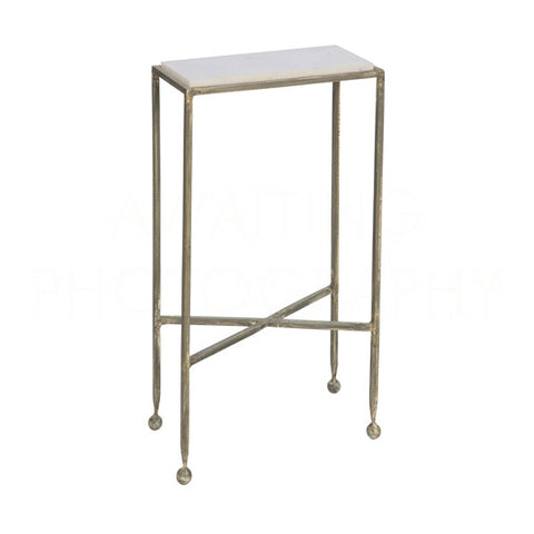 Chino Side Table With Marble Top Design By Aidan Gray