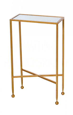 Chino Side Table In Gold Design By Aidan Gray