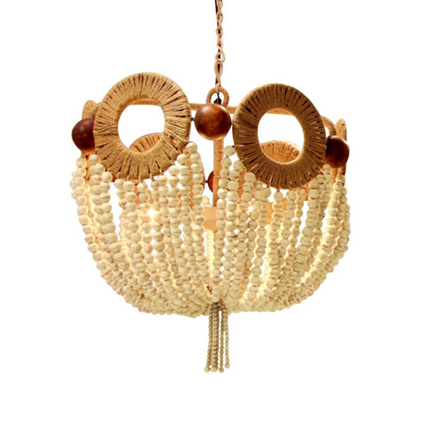 Mayfair Bead Chandelier in Ivory design by Florence Broadhurst