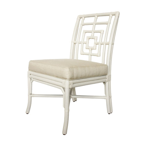 Squares Side Chair in White design by Florence Broadhurst