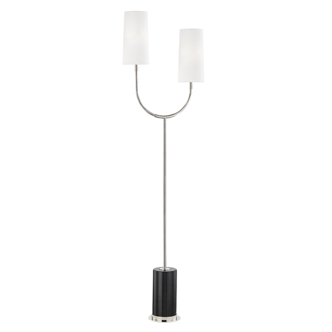 Vesper 2 Light Marble Floor Lamp by Hudson Valley