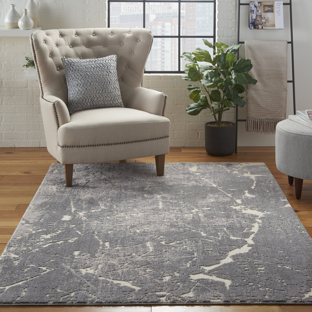 Sahara Rug in Ivory/Slate by Kathy Ireland