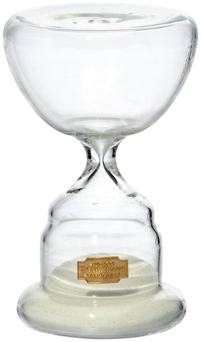 Trophy Shaped Sandglass White NO.3 design by Puebco
