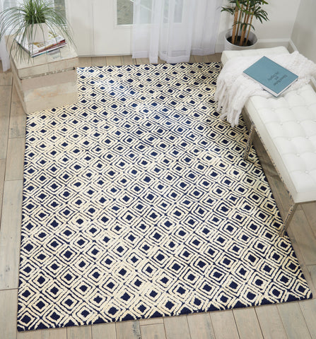 Deco Mod Rug in Navy/Ivory by Nourison
