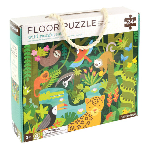 Wild Rainforest Floor Puzzle by Petit Collage