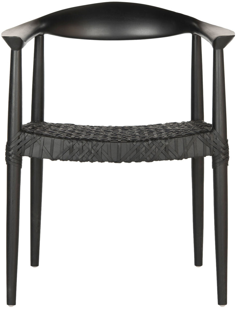 Bandelier Arm Chair in Black design by Safavieh