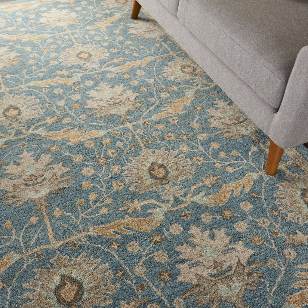 Jazmine Rug in Blue by Nourison