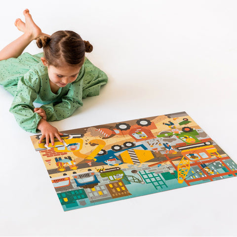 Construction Site Floor Puzzle by Petit Collage