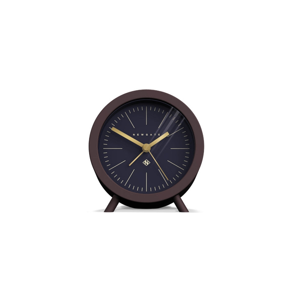 Fred Alarm Clock in Silicone Chocolate Black
