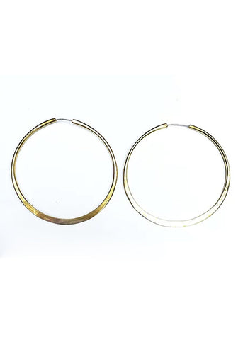 Full Circle Hoop Earrings design by WATERSANDSTONE