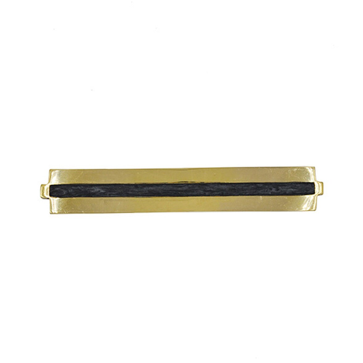 Brass Long Handle with Inset Resin in Various Sizes & Colors