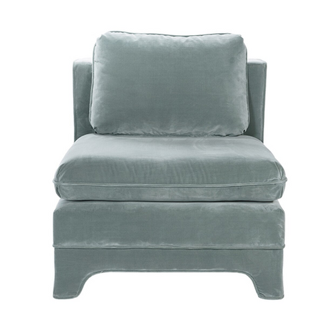 Slipper Chair in Seafoam