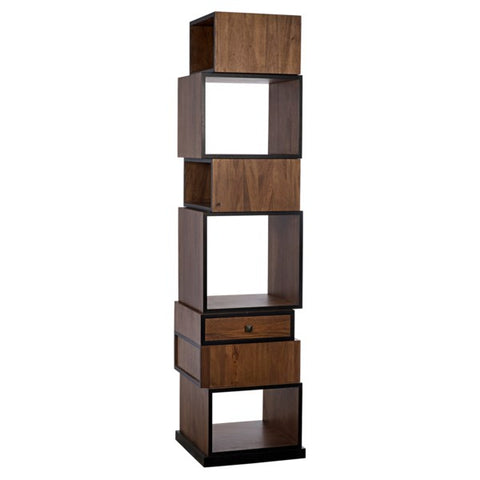 Baron Bookcase in Dark Walnut by Noir