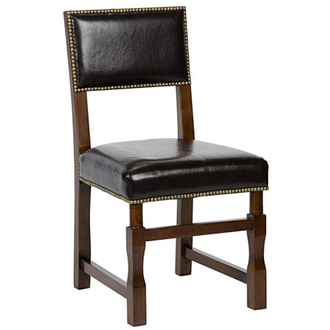 Abadon Leather Side Chair in Various Colors by Noir