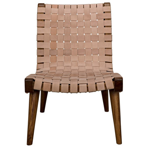 Cohen Chair in Teak & Leather by Noir