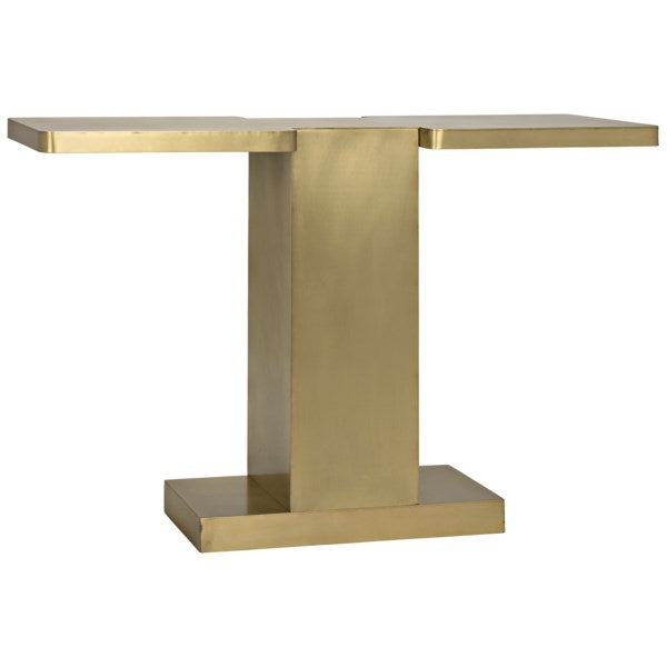 I Console in Antique Brass by Noir