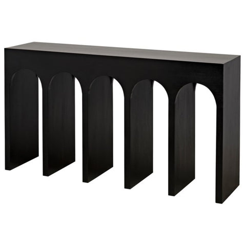 Bridge Console in Hand Rubbed Black by Noir
