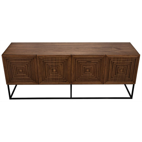Lanon Sideboard with Metal Base by Noir