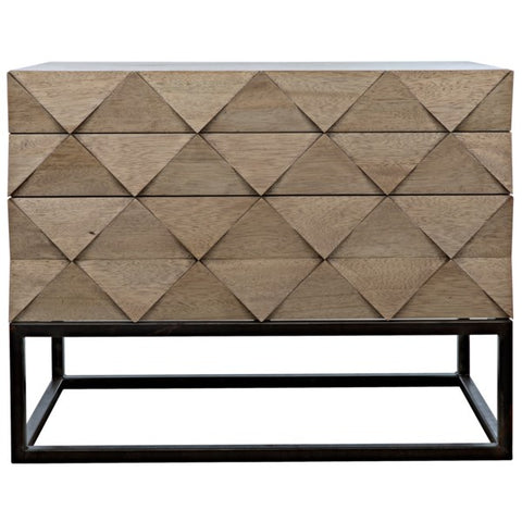 Draco Sideboard w/ Metal Stand & Washed Walnut by Noir