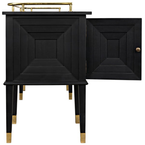 Conveni Sideboard w/ Brass Detail in Charcoal by Noir
