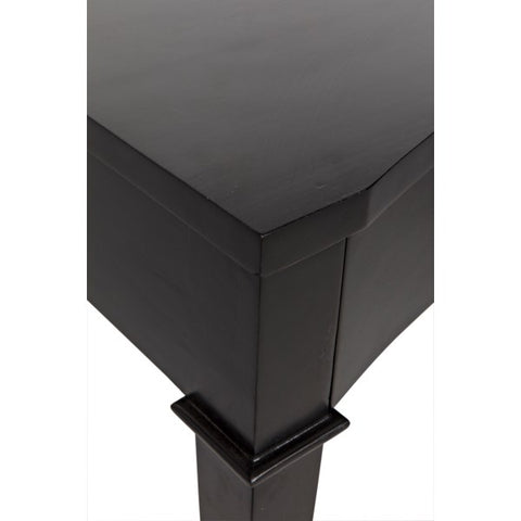 Curba Desk in Hand Rubbed Black by Noir