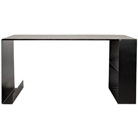 Black Metal Desk by Noir