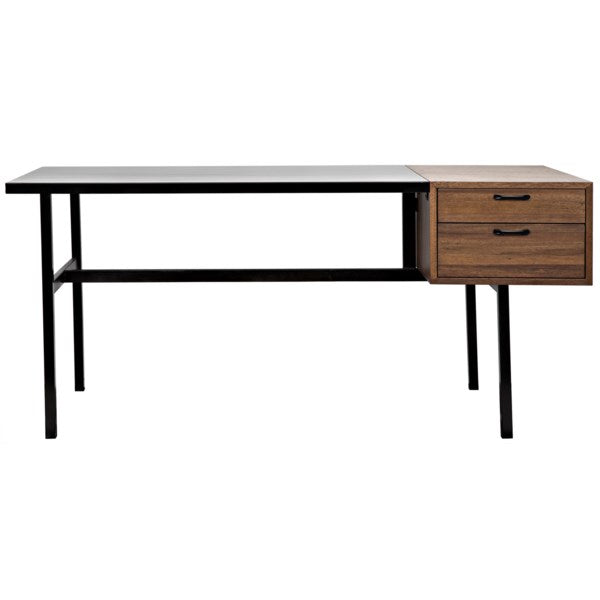 Algeron Desk in Black Metal by Noir