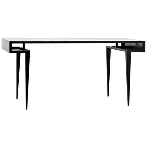 Stiletto Desk in Black Metal by Noir