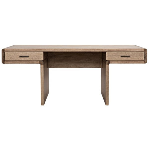 Degas Desk in Washed Walnut by Noir