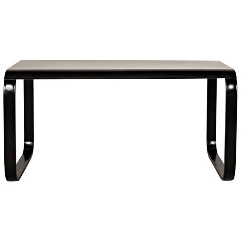 Harvey Desk in Black Metal by Noir