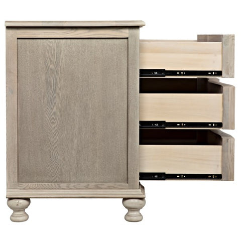 Curved Front 3 Drawer Chest by Noir