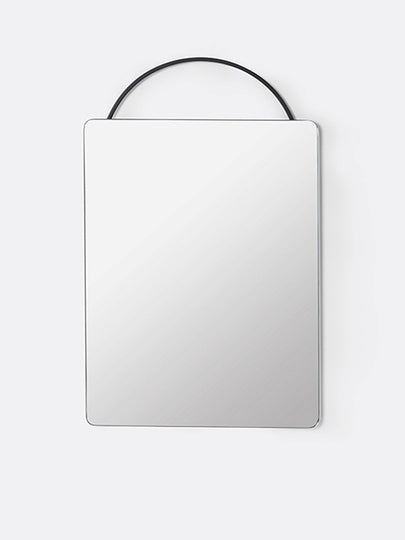 Adorn Face Mirror in Black by Ferm Living